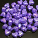 Beads, Acrylic, Indigo, Heart shape, 10mm x 10mm x 6mm, 25 Beads, (SLZ0112)
